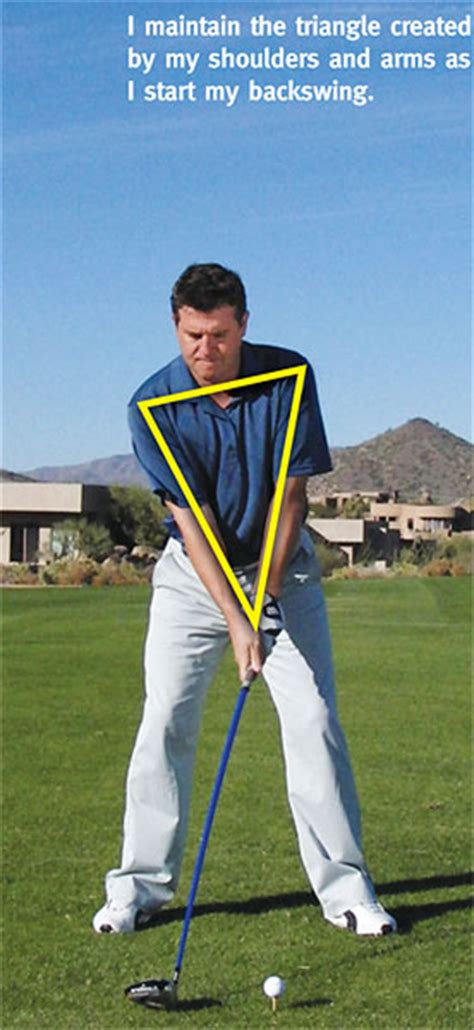 triangle golf swing the sequence golf tips magazine
