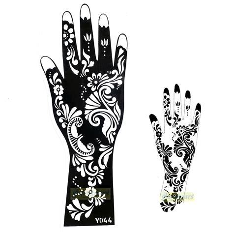 henna tattoo stickers amazon 1pc exquisite mehndi flower lace design stickers henna