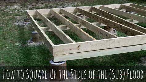 build  shed pt    build  shed floor frame