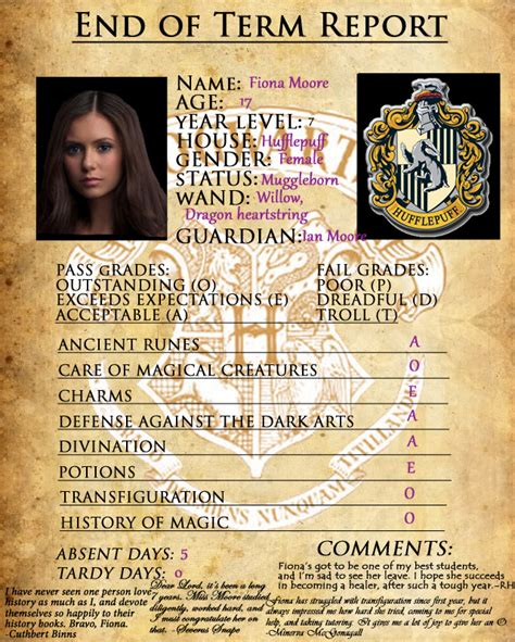 harry potter oc template hogwarts report card mine by sarahsaintly on deviantart