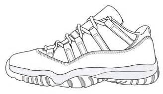 Jordan 11 Low Drawing Sketch Coloring Page sketch template