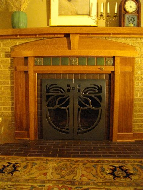 Arts And Crafts Tiles For Fireplaces by 250 Best Arts Crafts Fireplaces I Images On
