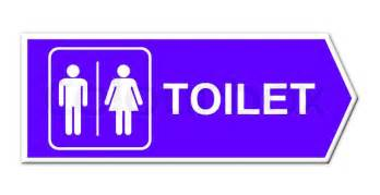 Gender Bathroom Signs Toilet Sign On White Background Stock Photo Colourbox