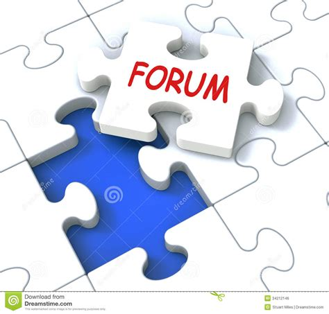 forum puzzle shows community discussion and advice royalty free stock image image 34212146