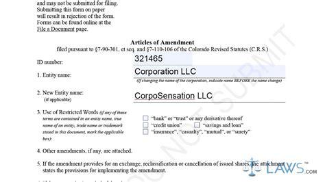 Articles Of Amendment Profit Corporation Sle Youtube Articles Of Amendment Template