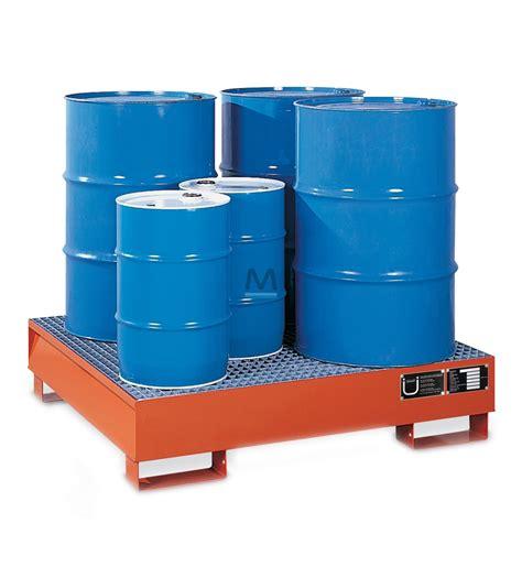 vasca di contenimento vasca di contenimento per 4 fusti in acciaio verniciato