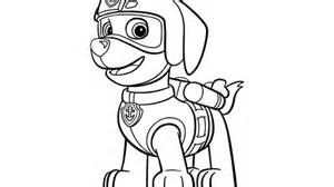 paw patrol paw patrol zuma colouring pages for preschoolers