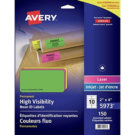 Avery 4x2 Label Template