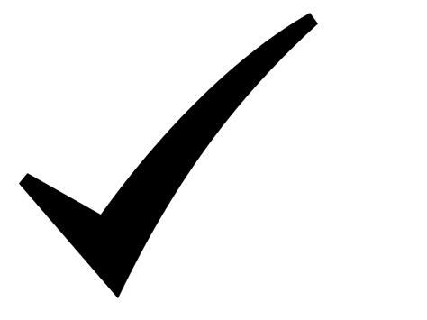 Black Checked black check symbol