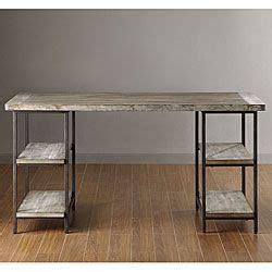 Tribecca Home Desk by Myra Vintage Industrial Modern Rustic Storage Desk By