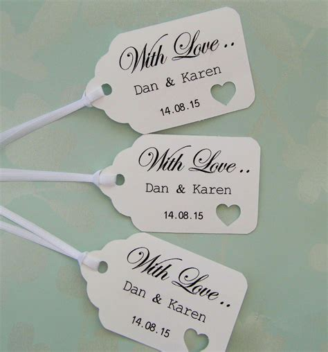Wedding Gift Tags personalised wedding gift tags