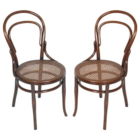 sedie thonet originali coppia sedie thonet in faggio curvato e paglia di vienna