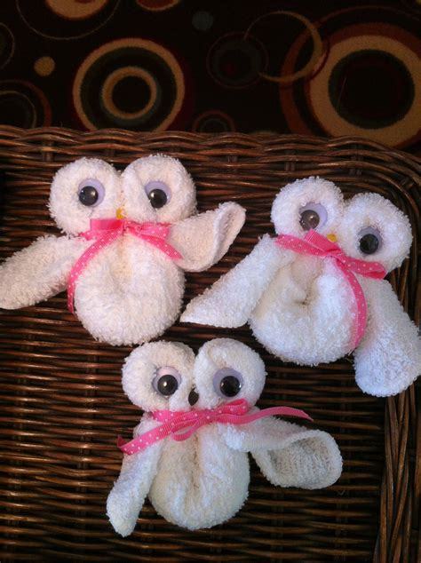 Owl Favors For Baby Shower by Owl Washcloth Favors For Baby Showers Made With