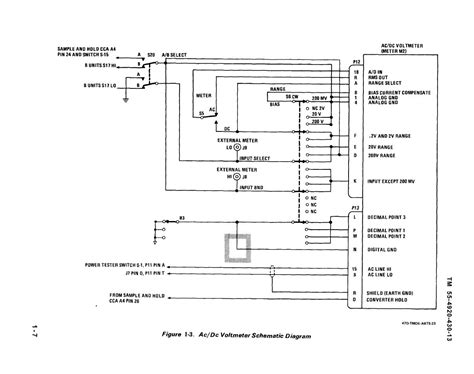 schematic diagram of voltmeter gt circuits gt ac dc voltmeter schematic diagram l26408