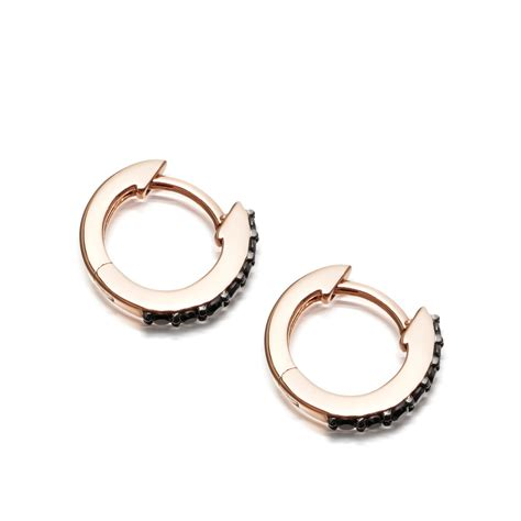 mini halo hoop earrings 14ct gold astley clarke