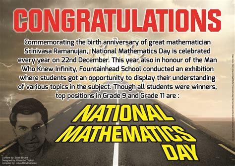 national mathematics day winners