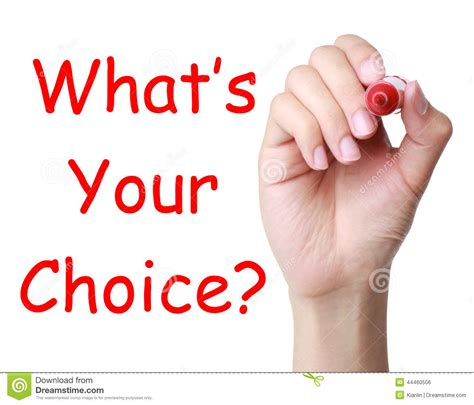 What S Your What what s your choice stock photo image of inspiration