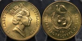 one australia 1986 international year of peace dollar