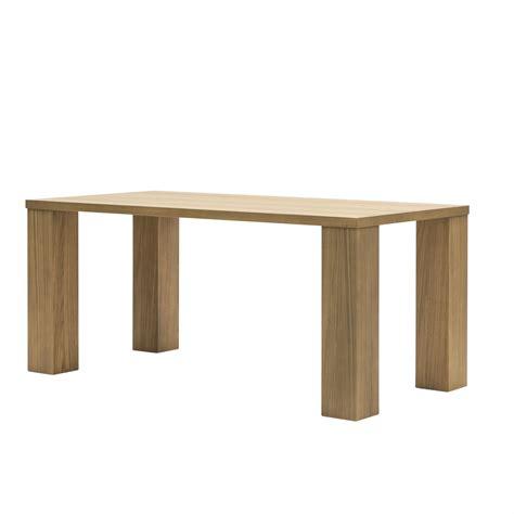 tavolo in rovere naturale tavolo moderno in rovere naturale e gambe a colonna 180cm