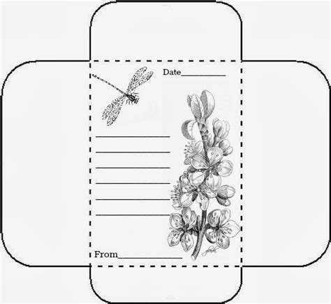 printable seed envelope glenda s world tiny note cards with matching envelopes
