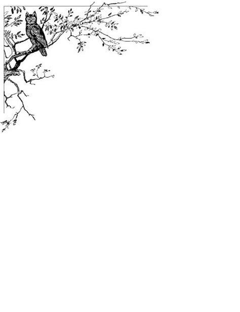 Bordes Decorativos: Bordes decorativos de hojas de Búhos