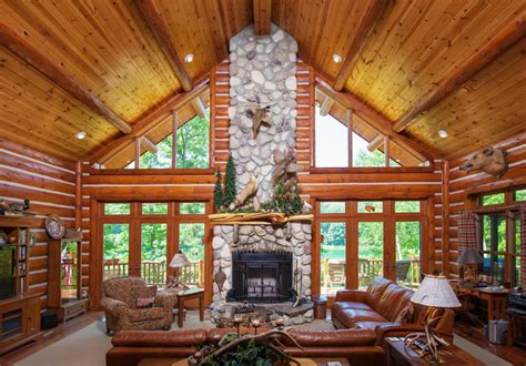 Chalet Fireplace by Living Rooms With Fireplaces Chalet Style Living