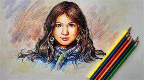 libro colored pencil painting portraits color pencil sketch face drawing art ideas