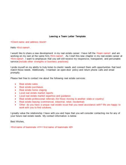real estate announcement letter examples
