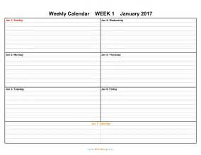 Work Week Calendar 2018 Weekly Calendar Weekly Calendar 2017 And 2018