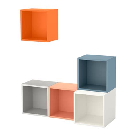 eket wall mounted cabinet combination multicolour ikea