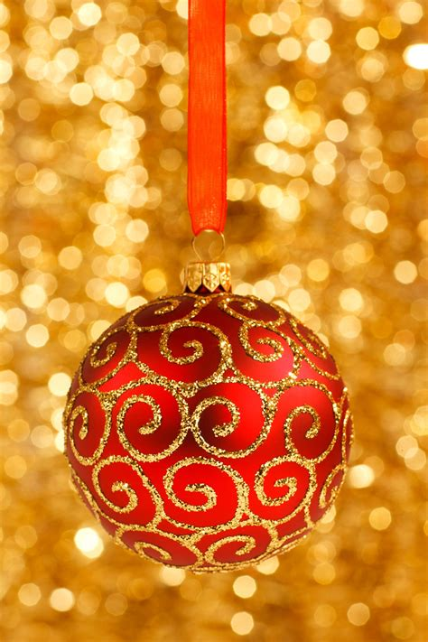 christmas bauble on gold free stock photo public domain