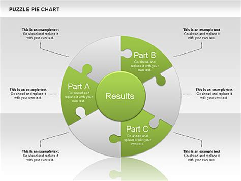 puzzle pie chart for presentations in powerpoint and