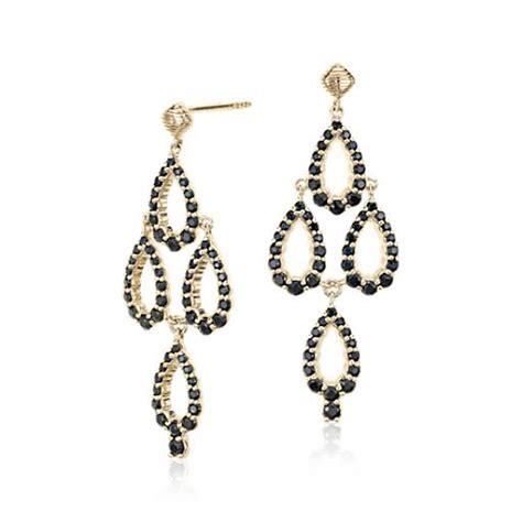 Sapphire Chandelier Earrings Frances Gadbois Black Sapphire Chandelier Earrings In 14k Yellow Gold Blue Nile
