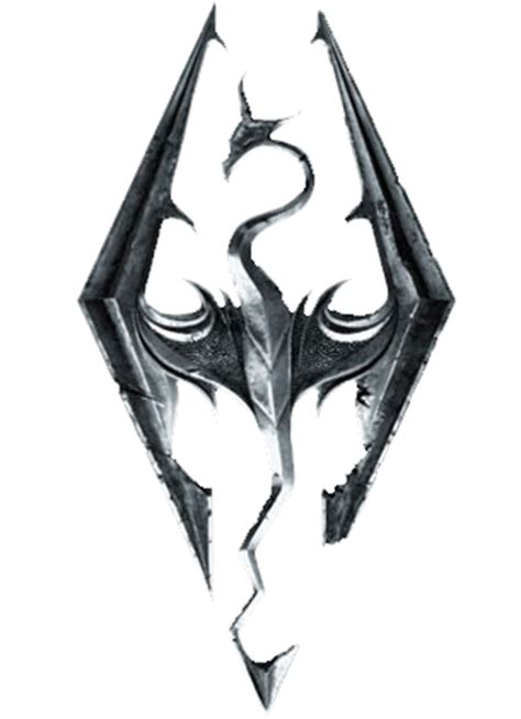 v tattoo logo tes v skyrim dragon logo by carudo on deviantart