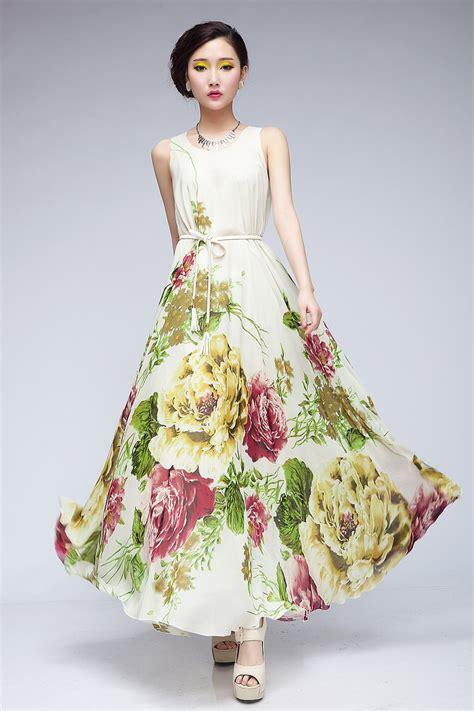 maxi dress design pattern classics design hot luxury elegant flower pattern