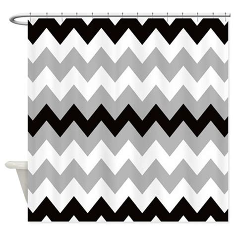 black white and grey shower curtain black gray and white stripe shower curtain by