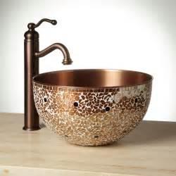 valencia mosaic copper vessel sink ebay