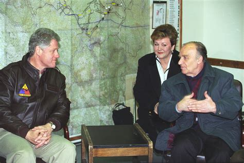 file president clinton meeting with bosnian president