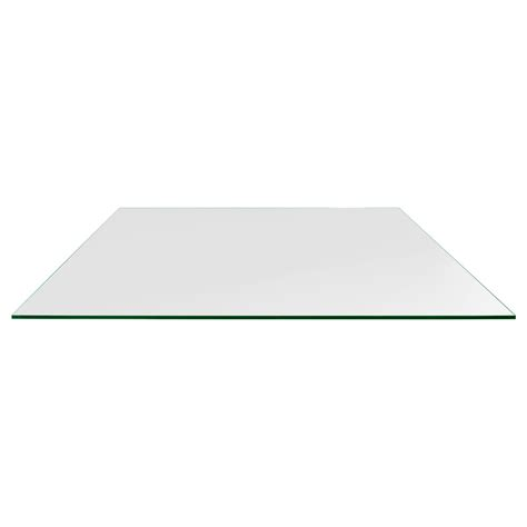 rectangle glass table top 36 quot x 48 quot rectangle glass table tops dulles glass and mirror