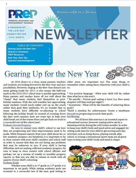 december newsletter gearing up for the new year prep