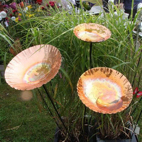copper garden copper chalice garden bird bath sculpture by garden