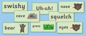 bear hunt word cards free early amp primary teaching resources eyfs amp ks1