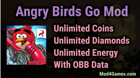 angry birds go apk data angry birds go apk mod unlimited coins diamonds energy obb data mod4games
