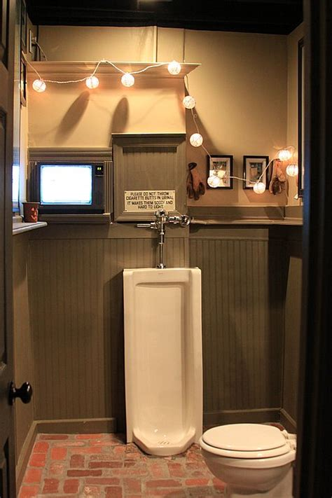 men bathroom ideas man cave bathroom gotta have the urinal cool man caves