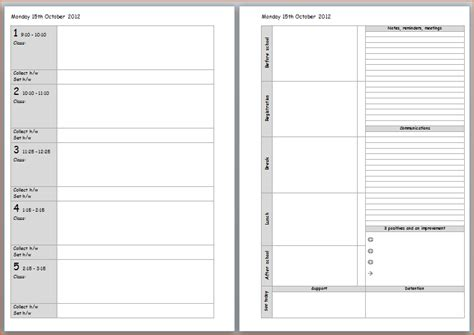 planning template for teachers 8 planner template bookletemplate org