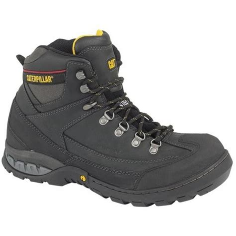 cat dynamite black safety boots with steel toe caps midsole