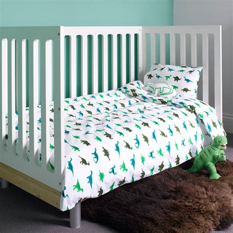 cot coverlet dinosaur cot bed duvet set by lulu and nat
