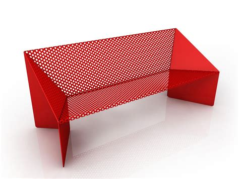 Origami Products - perforated metal bench origami by garda design design