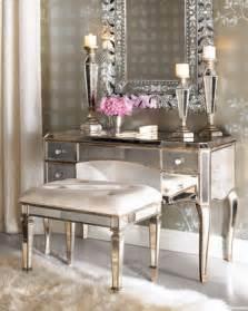 Mirror Bedroom Vanity Quot Quot Mirrored Vanity Desk Vanity Seat Traditional