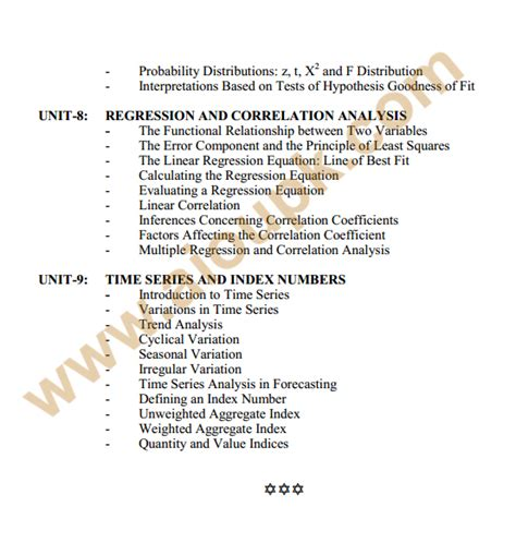 Business Statistics Syllabus Mba by Business Statistics Code 133 Bba Syllabus Course Outlines